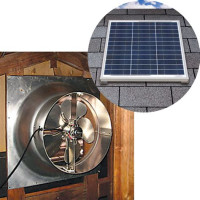 Solar Powered Attic Gable Shed Ventilation Fan