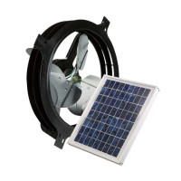 Solar Powered Attic Gable Vent Fan
