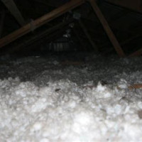 White Fluffy Insulation In Attic What Is It